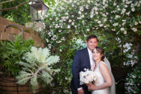 happy newlyweds after quintessential Charleston spring garden we