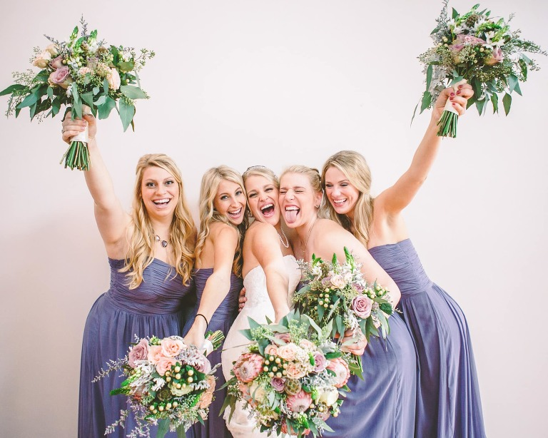 Giddy bride and her gorgeous gals at Charleston Flood Wedding, Charleston photographer testimonial